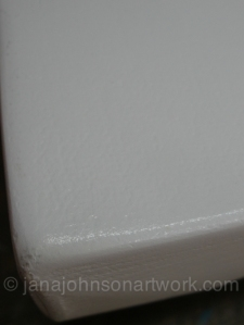 Wet sanded primed canvas