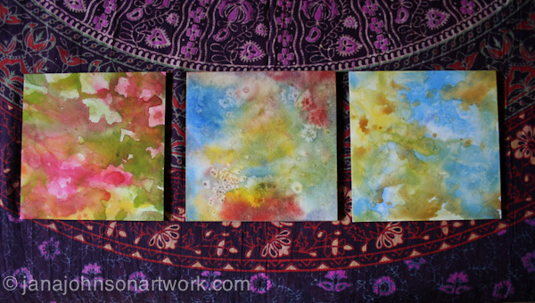 Watercolored backgrounds © Jana R. Johnson