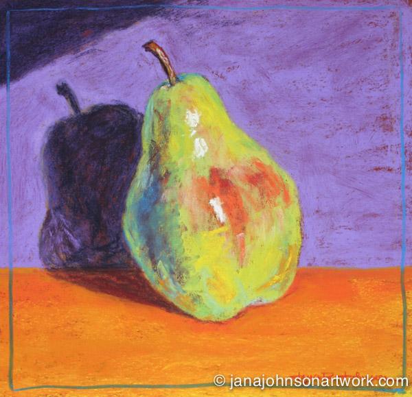 ©Jana R. Johnson janajohnsonartwork.com/blog c-Jana's paintings of pears in pastel --- Pearennial & Pearformance